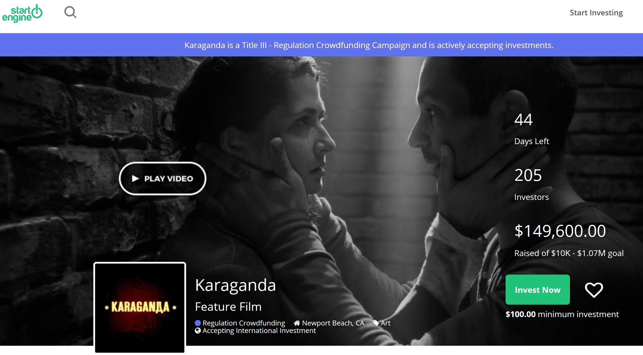 Karaganda on StartEngine